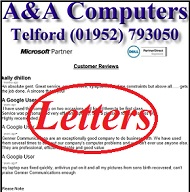 A&A Computers Telford Customer Letters, Reviews