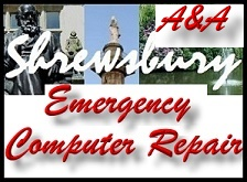 Shrewsbury Shropshire same day emergency A&A computer repair